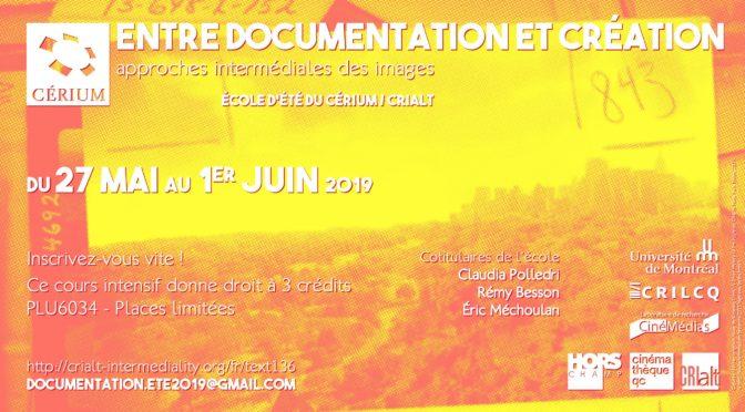 Entre documentation et création (École d'été)